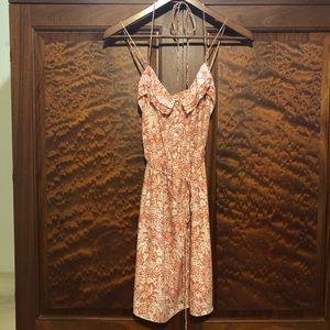 American Eagle Rust Floral Sundress GUC